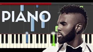 Jason Derulo Get Ugly Piano midi tutorial sheet partitura cover