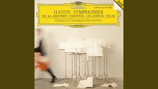 "Haydn: Symphony in F sharp minor, H.I No.45 -""Farewell"" - 4. Finale. Presto"