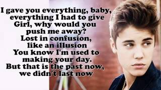 Justin Bieber   Nothing Like Us Lyrics On Screen]