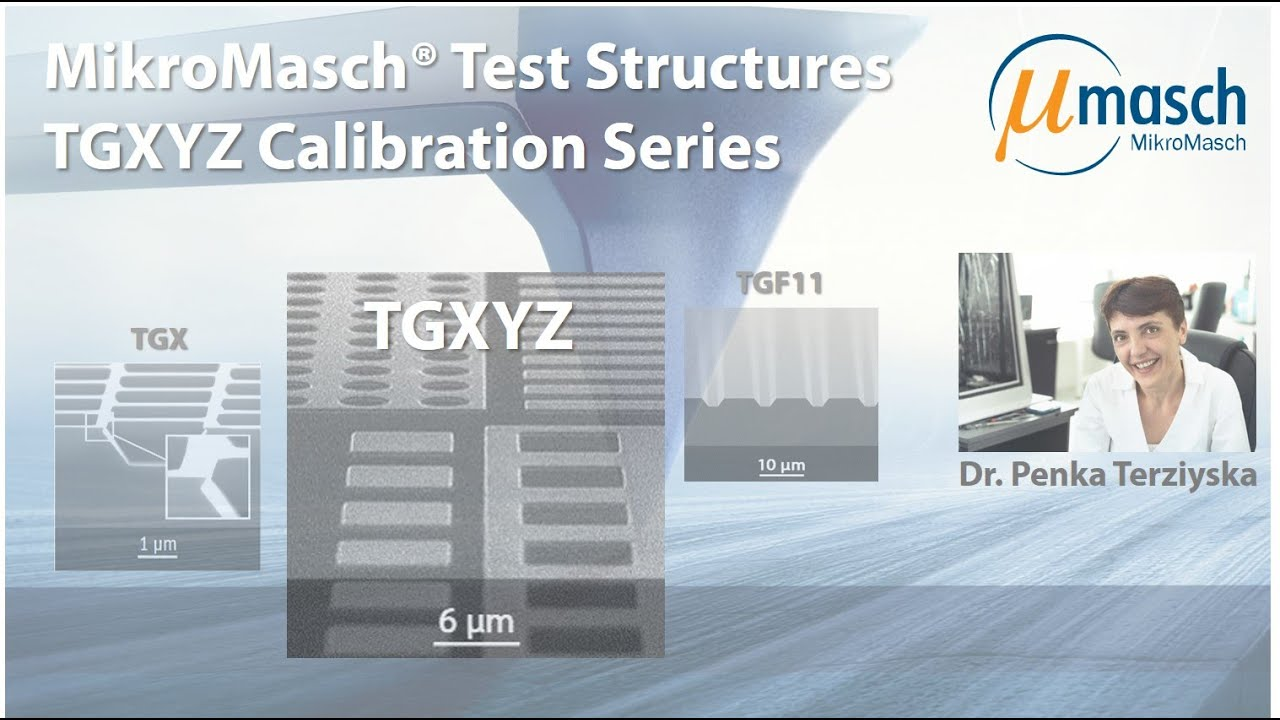 MikroMasch HQ Line Test Structures: TGXYZ Calibration Series
