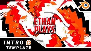 Blender Intro Template EthanPlays | Patreon reward | 60FPS