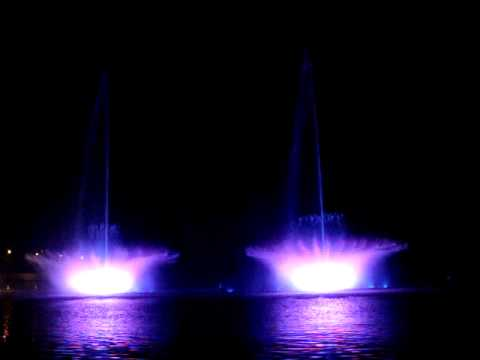 Singing fountains in Vinnitsa, Ukraine