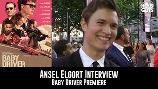 Ansel Elgort Baby Driver UK Premiere Interview
