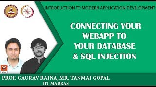 Module P10: Module P10: Connecting your webapp to your database & SQL Injection width=