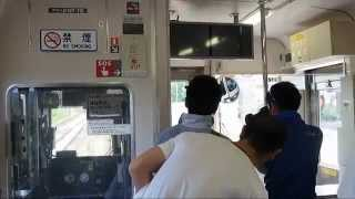【HD】運転士無しで前進!?篠ノ井線姨捨スイッチバック Atmosphere on the Shinonoi Line Local Train at Obasute Station