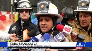 Bomberos controlan incendio en la Avenida Boyacá con 13 en Bogotá
