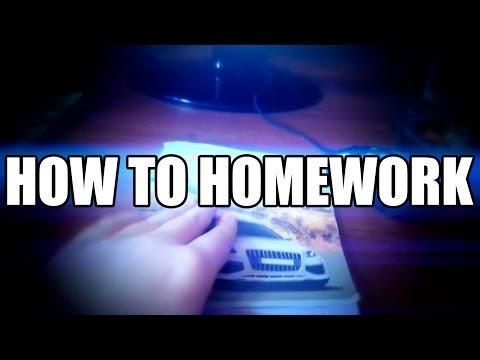 HOW TO DO HOMEWORK [AN MLG TUTORIAL]