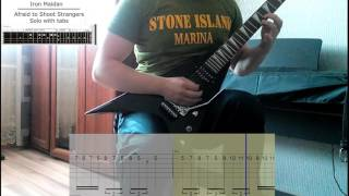 Iron Maiden - Afraid to Shoot Strangers Solo with tabs