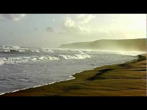 Indian ocean waves on the beach at Nature's Valley, South Africa