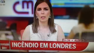 Engano da jornalista CMTV