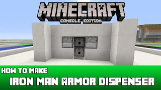 Minecraft: How To Make An Iron Man Armor Suit Dispenser