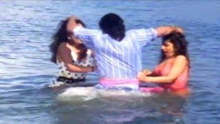 Alluda Majaka Scene - Karoda Sisters Bathing Scene - Chiranjeevi, Ramya Krishna, Rambha