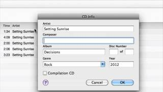 How Can I Put Music Track Information on My Burned CD : CDs & Audio Conversions