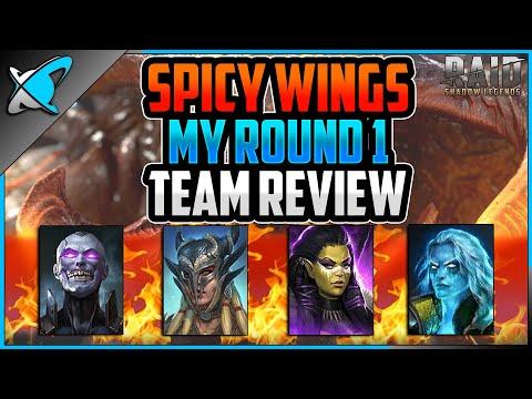 *ROUND 1* TEAM REVIEW | Spicy Wing Challenge ! | RAID: Shadow Legends