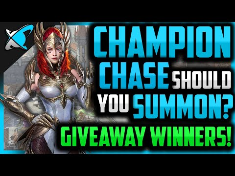 Champion Chase... SHOULD YOU SUMMON? | Giveaway Winners !! | RAID: Shadow Legends