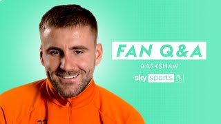 Which Premier League STAR does Amad Diallo remind Luke Shaw of? 🤩   Fan Q&A with Luke Shaw