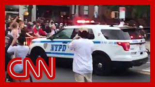 Video appears to show NYPD truck plowing through crowd