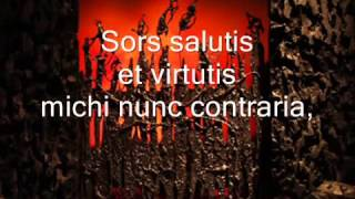 Carl Orff - O Fortuna - Carmina Burana - Lyrics