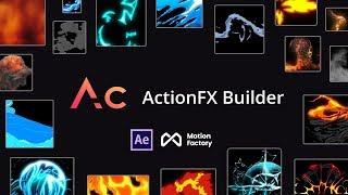 ActionFX Builder | FREE Starter After Effects Cartoon FX Plugin: Fire, Smoke, Water, Explosion