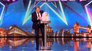 Talking dog on britains got talent!Epic