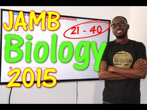 JAMB CBT Biology 2015 Past Questions 21 - 40
