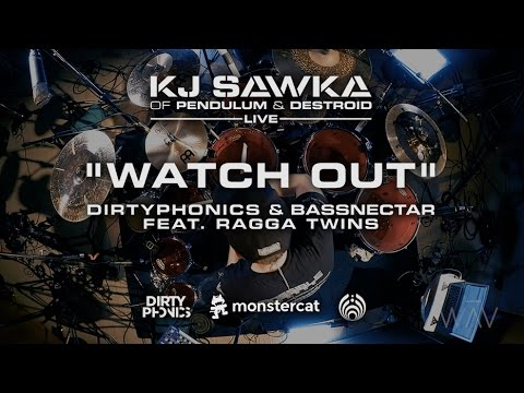 Dirtyphonics & Bassnectar - Watch Out (feat. Ragga Twins) [KJ Sawka Drum Cover]