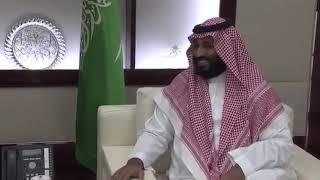 استقبال محمد بن سلمان الشيخ عبدالله بن علي بن عبدالله بن جاسم ال ثاني