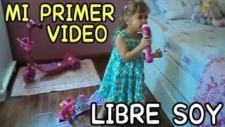 Niña cantando LIBRE SOY -  Let it go - FROZEN 🎶 Míralo En La Pc 💻