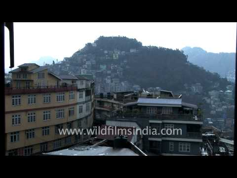 Aizawl city view from Millineum Plaza