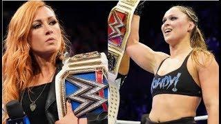 WWE esta PREOCUPADA con Ronda Rousey ¿Culpable Becky Lynch?