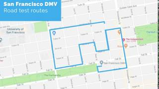 San Francisco DMV Road Test Route - powered by YoGov
