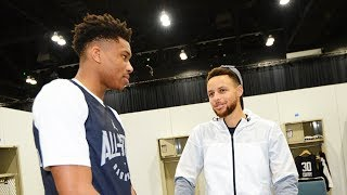 Stephen Curry Recruiting Giannis Antetokounmpo to the Warriors?