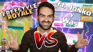 2VS2 IMPROVISANDO CON JONKO Y WAS !! TROLLEOS Y PALIZAS !! | Navalha - Freestyle Royale