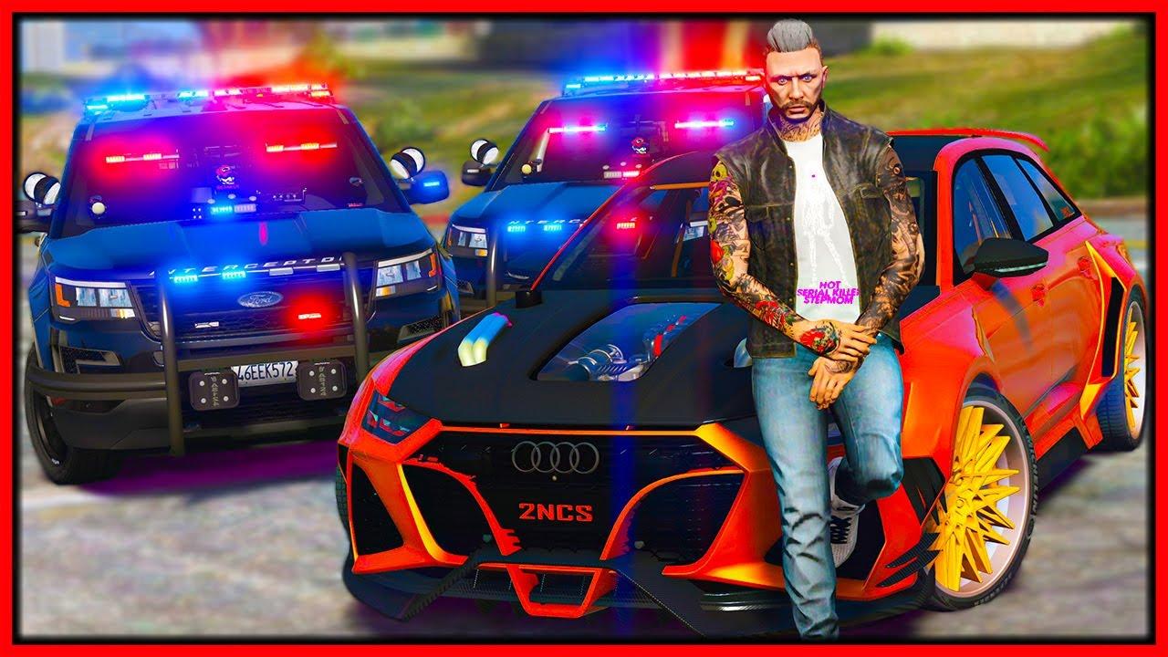 Elanip - GTA 5 Roleplay - annoying & embarrassing cops in quick car | RedlineRP