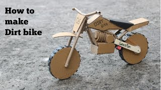 How to make cardboard Dirt bike at very simple width=