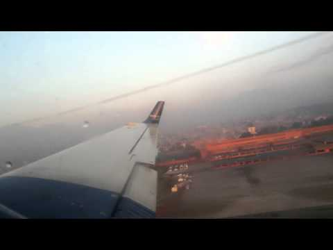 Take off from Kathmandu Airport Nepal