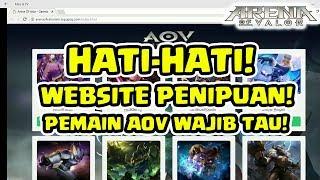 Hati2 WEBSITE PENIPUAN! Pemain AOV WAJIB TAU! - Arena of Valor