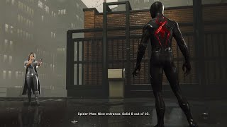 Spider-Man PS4 - Spiderman Meets Silver Sable In Black Cat Suit (Spiderman 2018) PS4 Pro