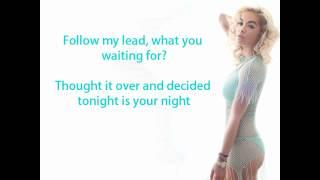 Rita Ora Ft. Tinie Tempah - R.I.P. Lyrics On Screen
