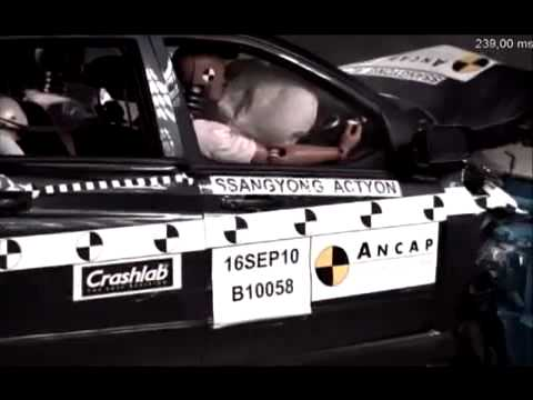Crash Test 2008 - Ssangyong Actyon Sports (Frontal Offset) ANCAP