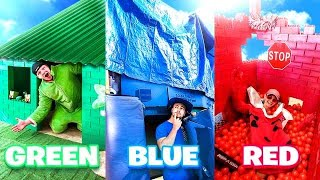 Using only ONE COLOR to build a HOUSE! Challenge