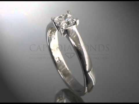 Princess cut,diamond,platinum band,engagement ring