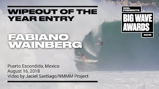Fabiano Wainberg at Puerto 3 - 2019 Wipeout of the Year Entry - WSL Big Wave Award