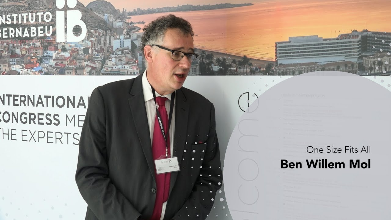 3rd Meeting the Experts: Ben Willem Mol. «One Size Fits All». Instituto Bernabeu