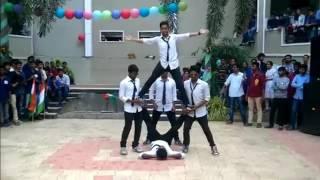 Boys dance with DJ Bravo music