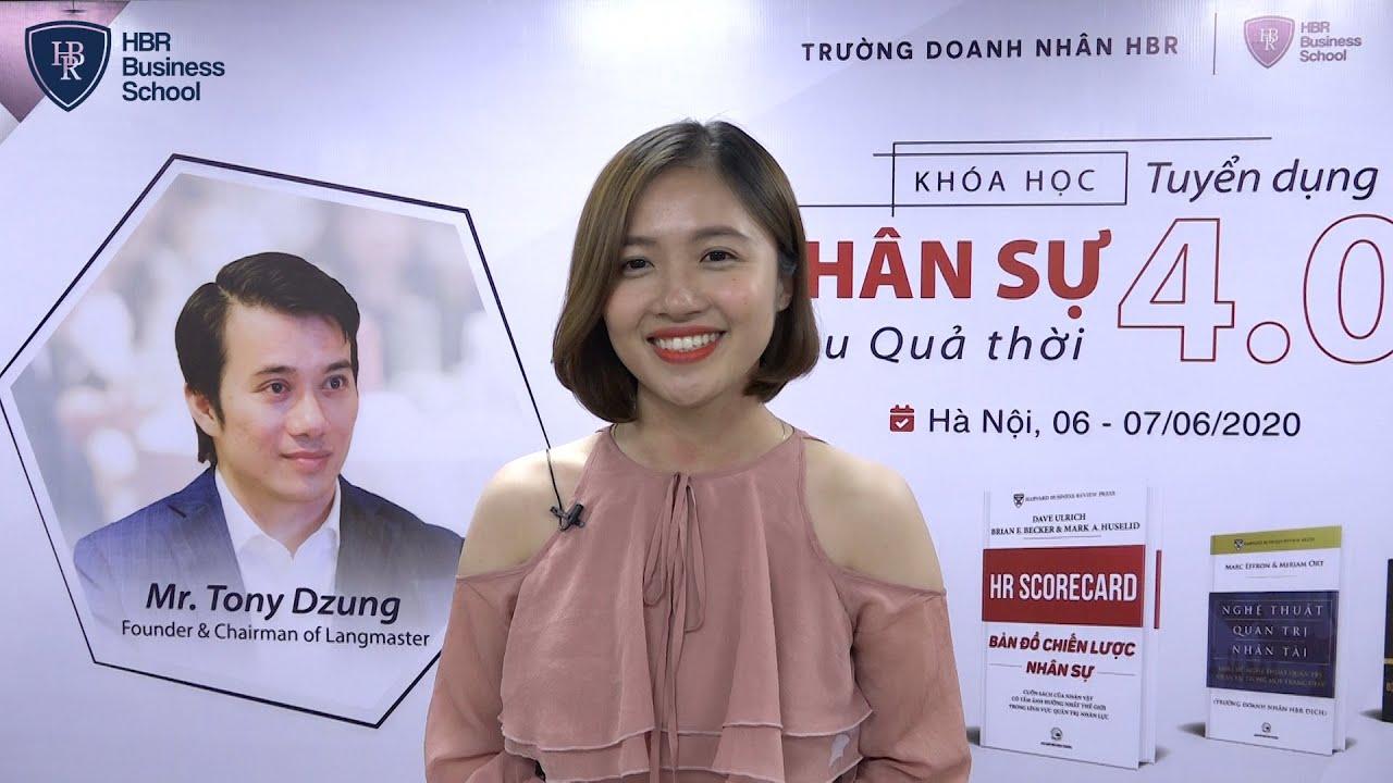Cảm nhận học viên trường doanh nhân HBR - Chị Trần Thị Hiền CEO Thời trang Sunny Trần