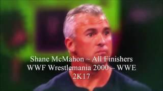 Shane McMahon ~ All Finishers in WWE Video Games (WWF Wrestemania 2000 – WWE 2K17)
