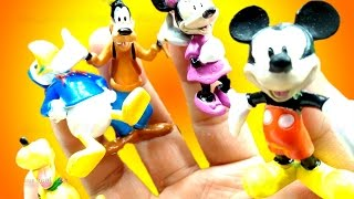 Finger Family Nursery Rhymes with Disney Characters Mickey Minnie Donald Goofy Pluto