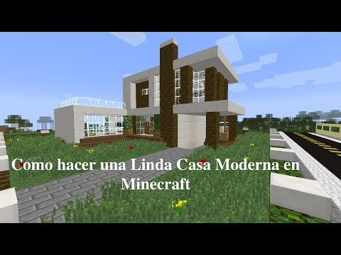 Como aser una casa en minecraft minecraft como construir for Casa moderna wiki