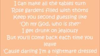 Taylor Swift.  Blank Space Lyrics cover